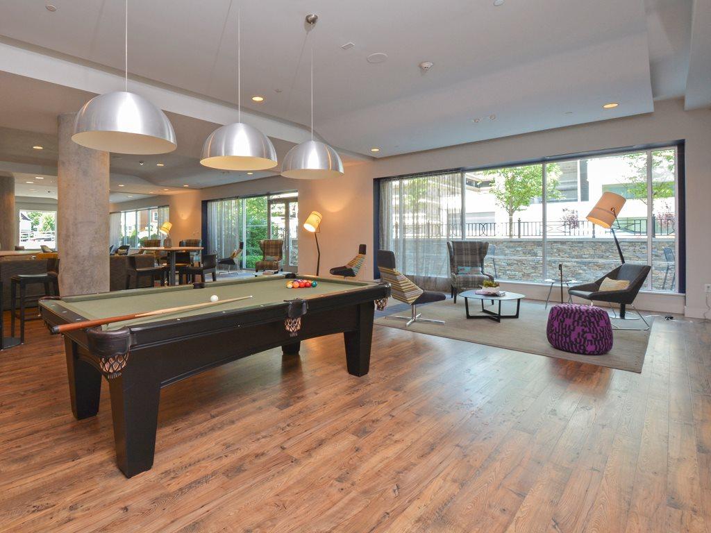 Pool table at 75 Tresser Boulevard Apartment