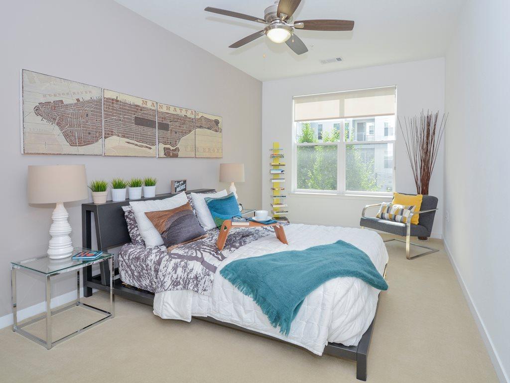 Bedroom at 75 Tresser Boulevard Apartment