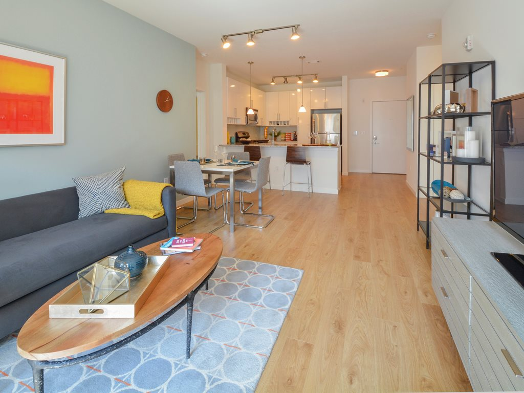 Living area at 75 Tresser Boulevard Apartment