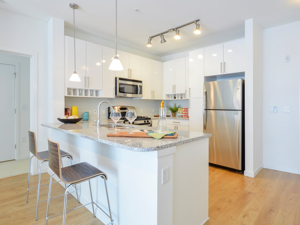 Kitchen at 75 Tresser Boulevard Apartment