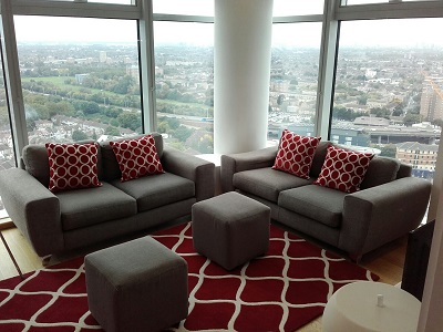 Lounge area at Pioneer Point Apartments