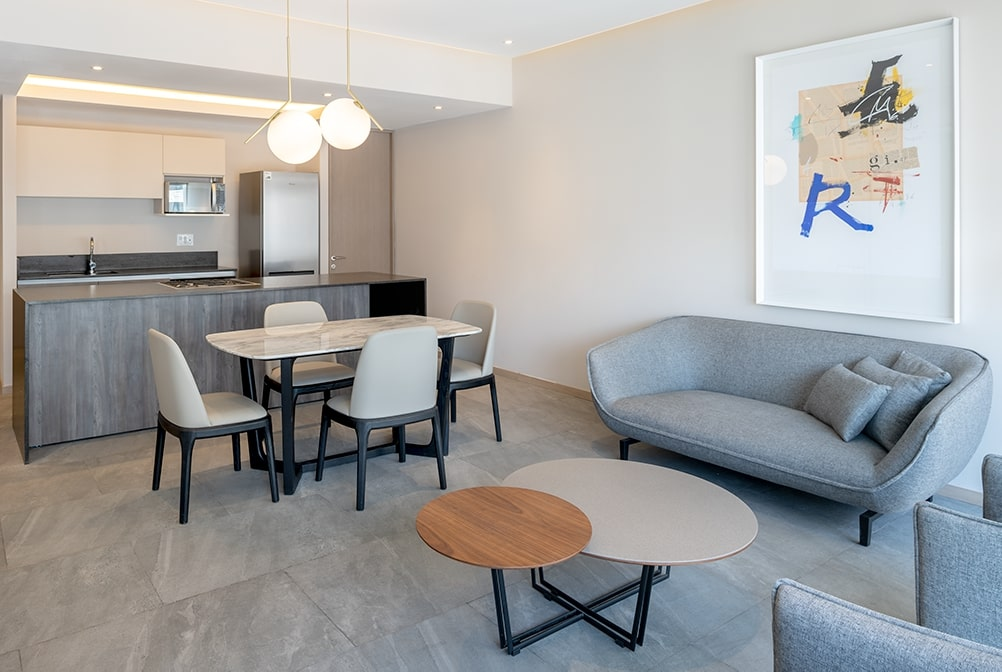 Living Room at Paradox Apartment