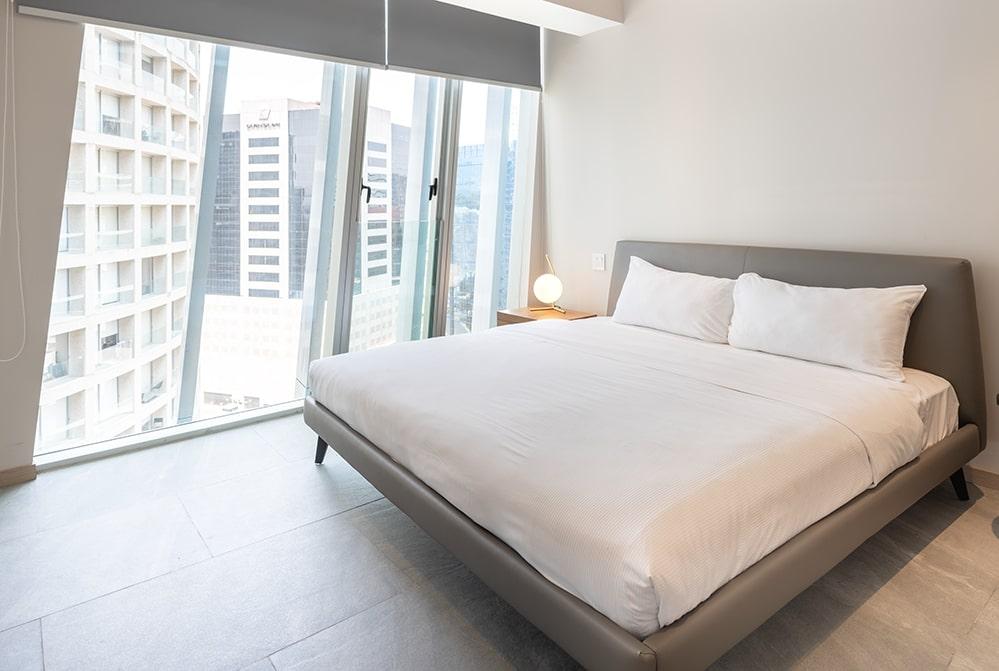 Bedroom at Paradox Apartment