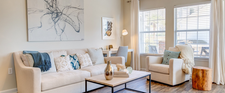 Living Room at Crowne at Grandview Apartment