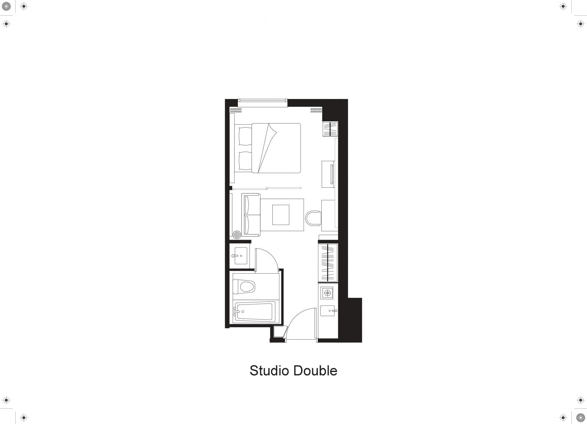 Floorplan 1 at Citadines Shinjuku Apartments