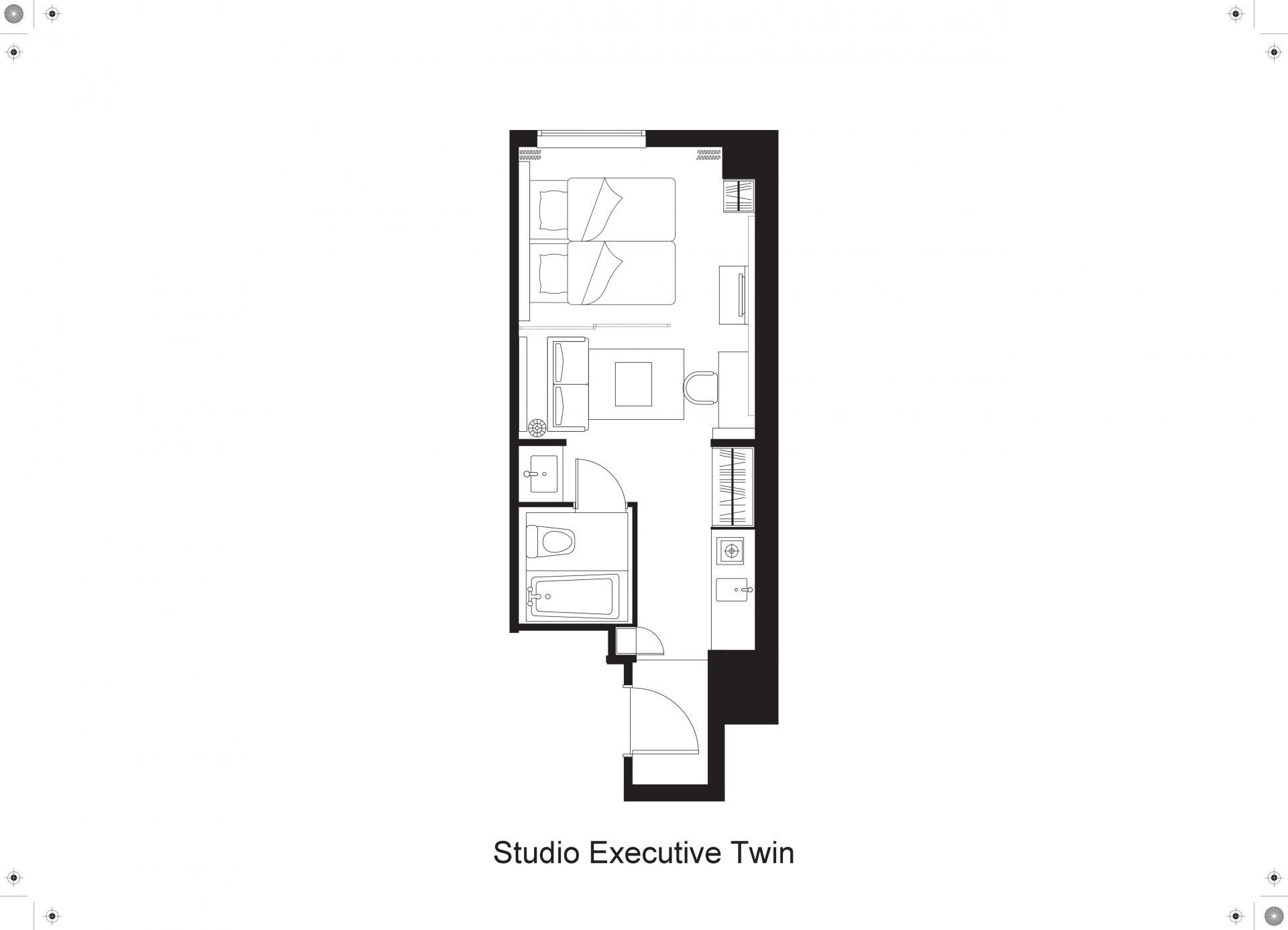Floorplan 3 at Citadines Shinjuku Apartments
