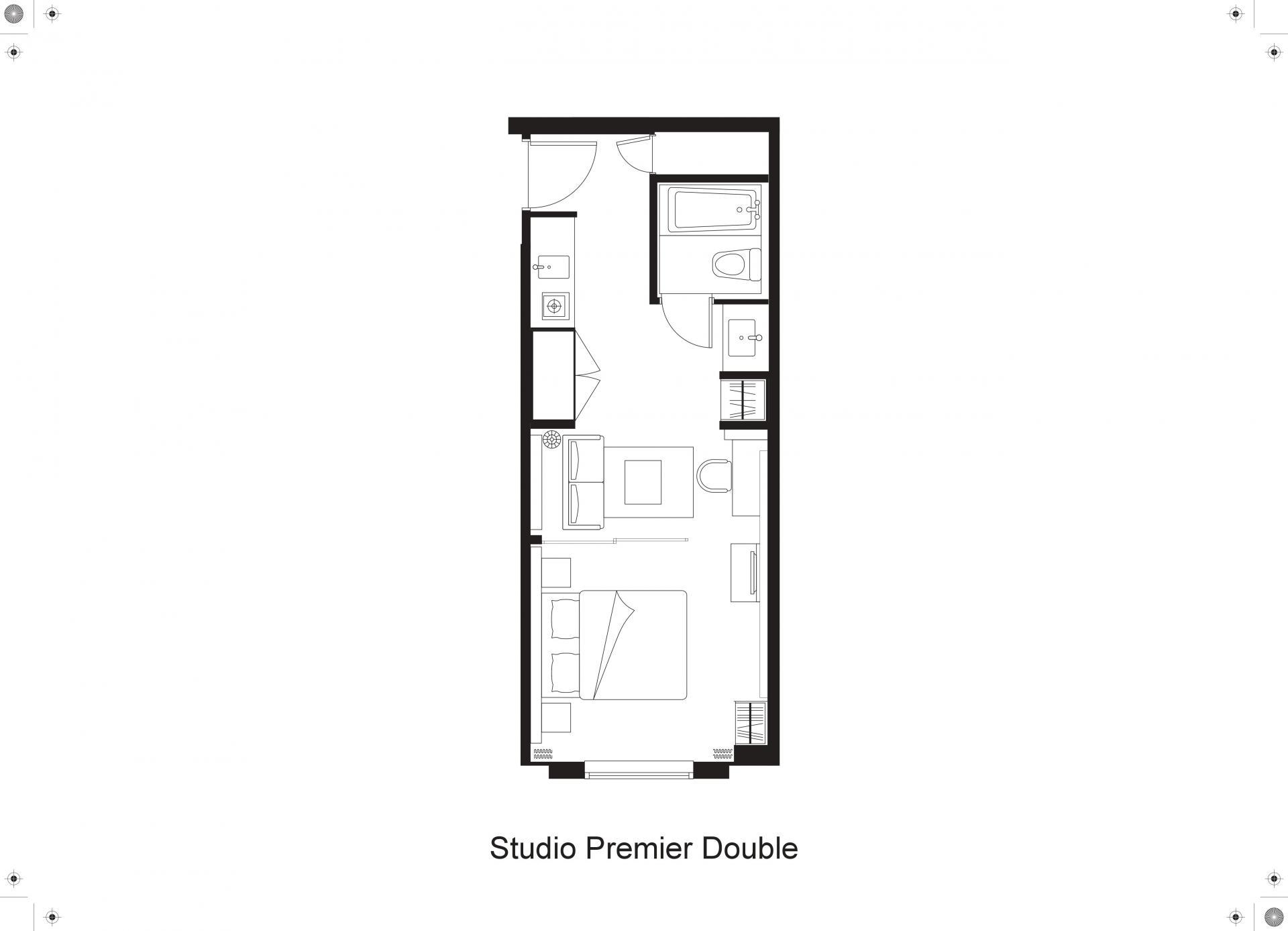 Floorplan 4 at Citadines Shinjuku Apartments