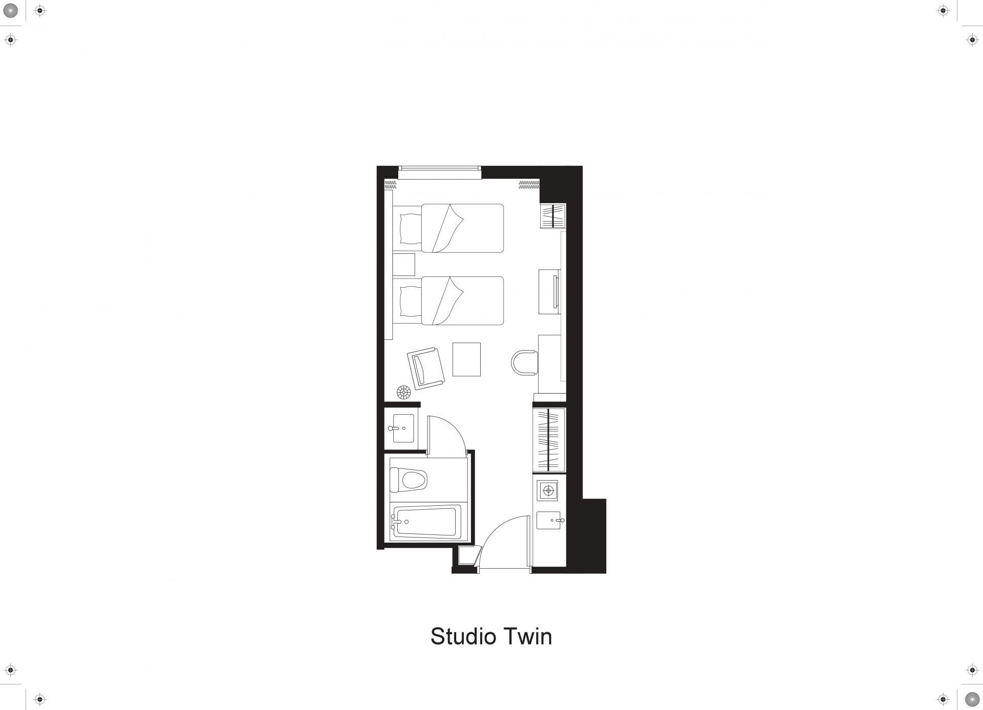 Floorplan 2 at Citadines Shinjuku Apartments