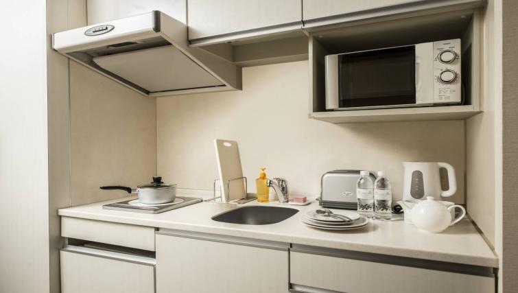 Kitchenette at Citadines Shinjuku Apartments