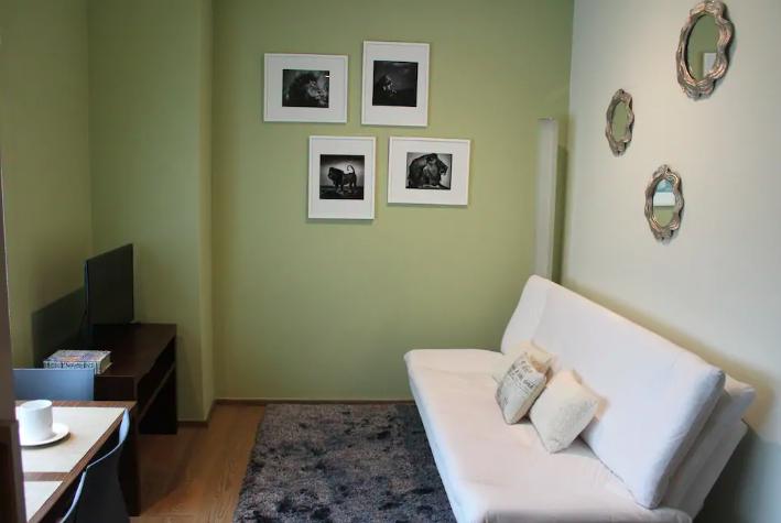 Sofa at Sky View Apartment, Lomas De Santa Fe, Mexico City