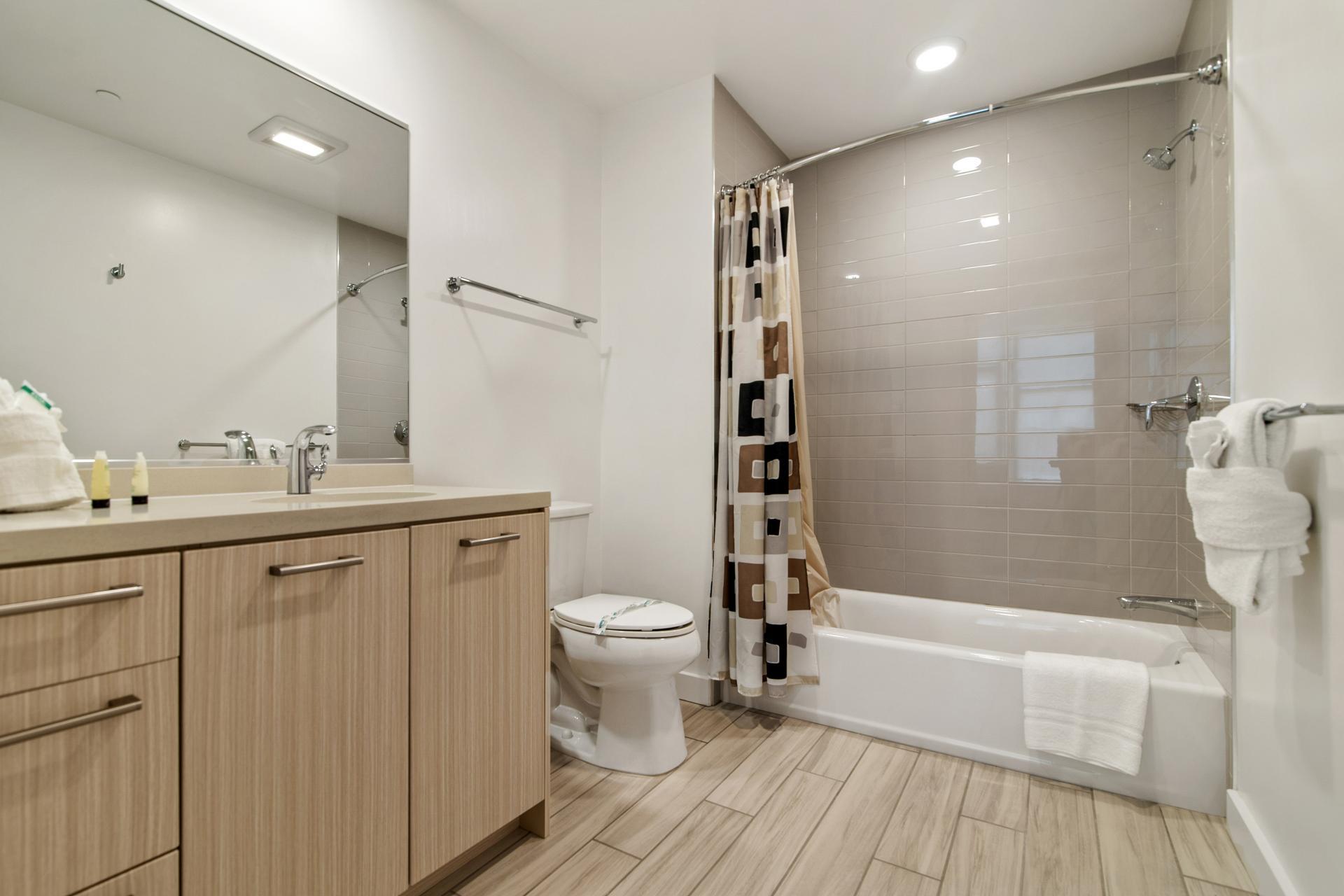 Bathroom at 923 Folsom Street Apartments, Soma, San Francisco