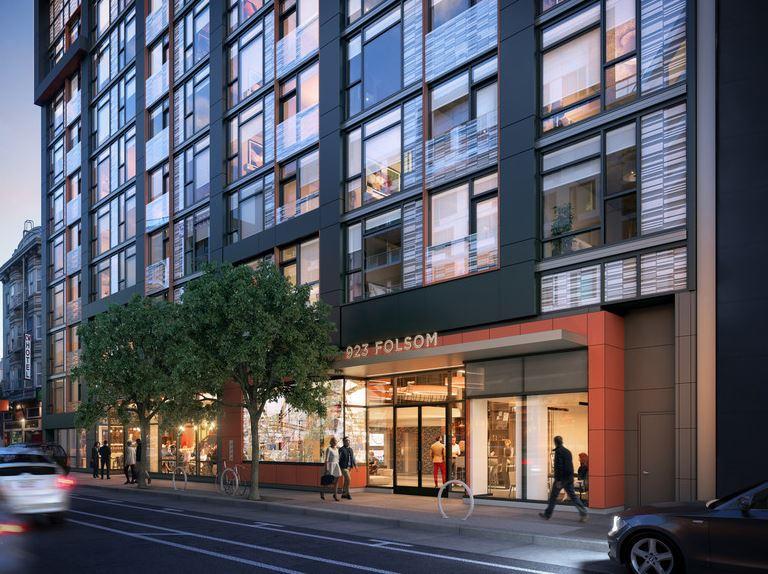 Exterior of 923 Folsom Street Apartments, Soma, San Francisco