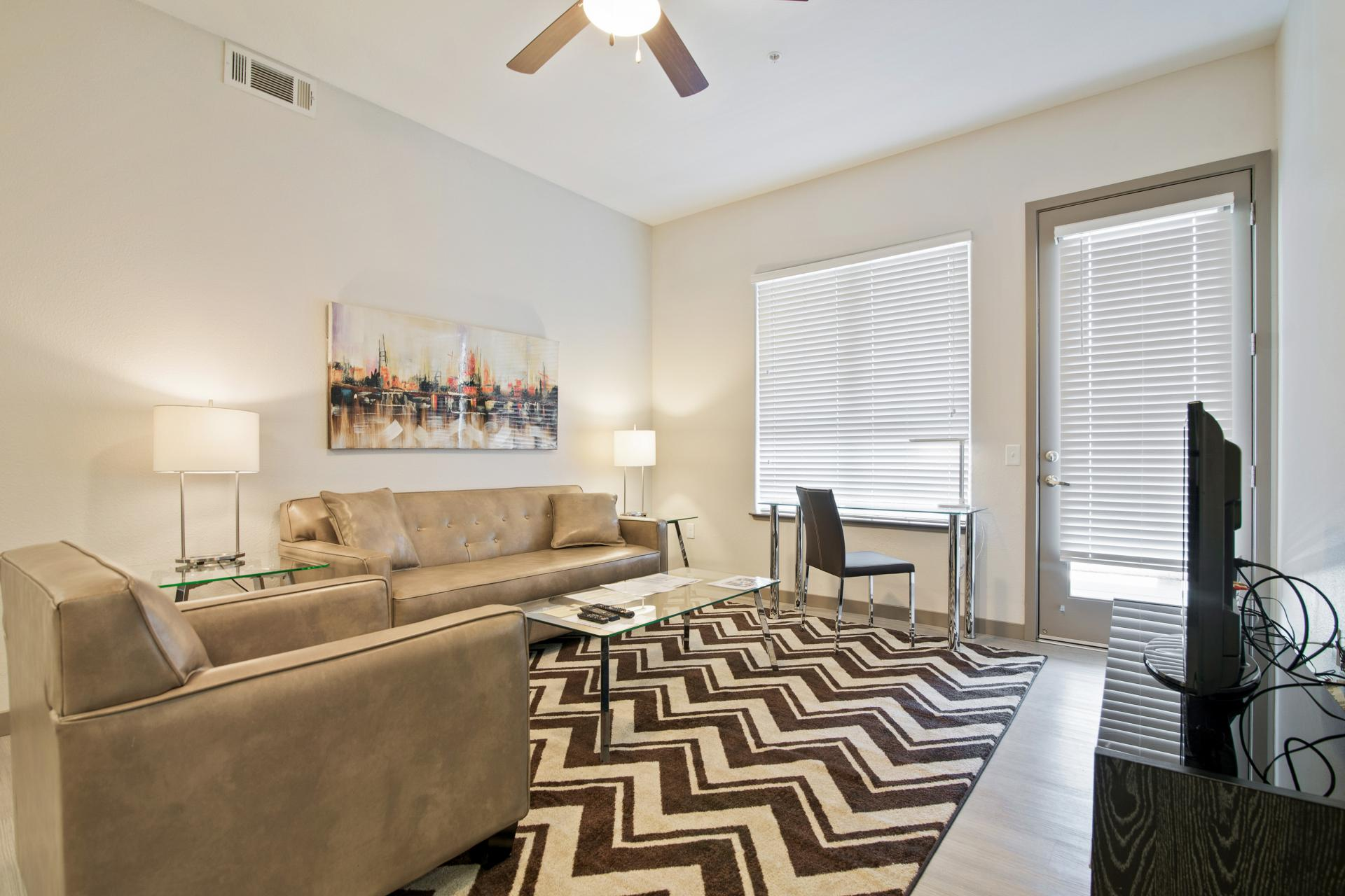 Living area at Anton Apartments, Lakewood, Sunnyvale
