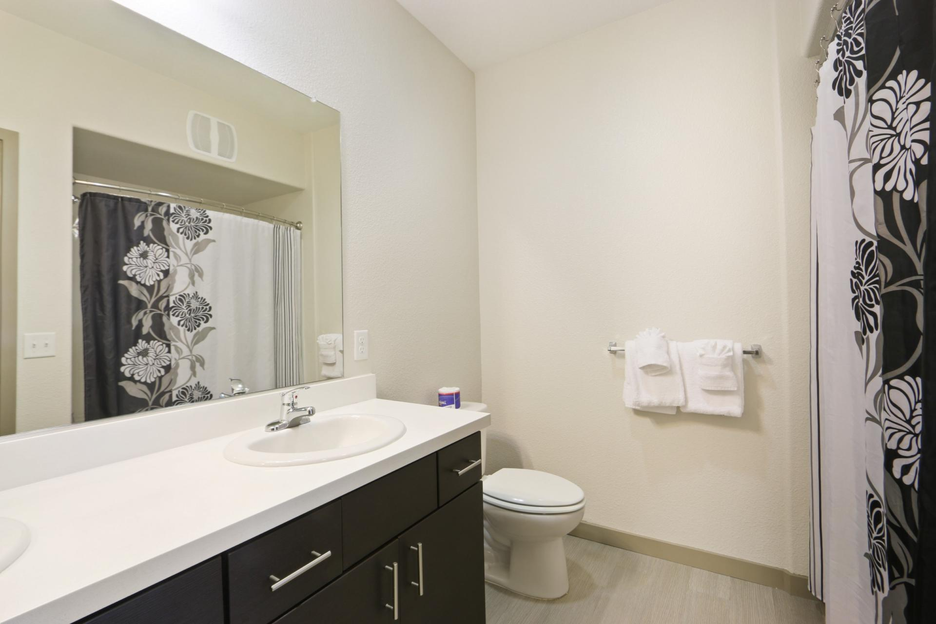 Bathroom at Anton Apartments, Lakewood, Sunnyvale