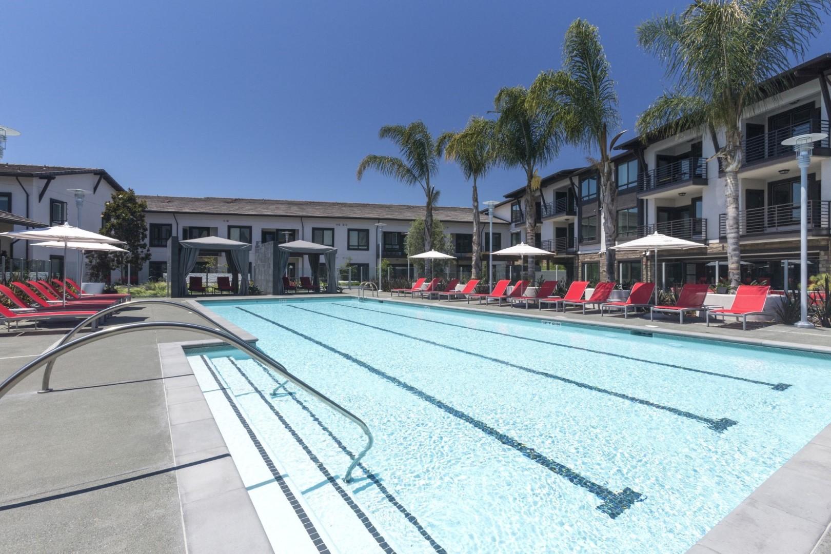 Pool at Anton Apartments, Lakewood, Sunnyvale