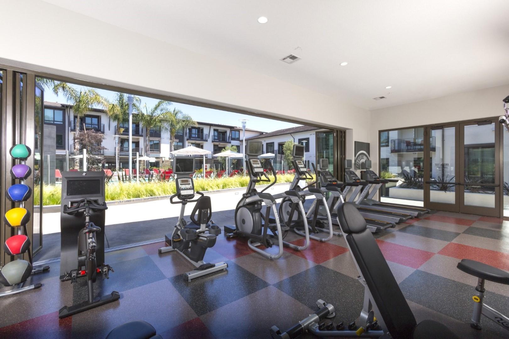 Gym at Anton Apartments, Lakewood, Sunnyvale