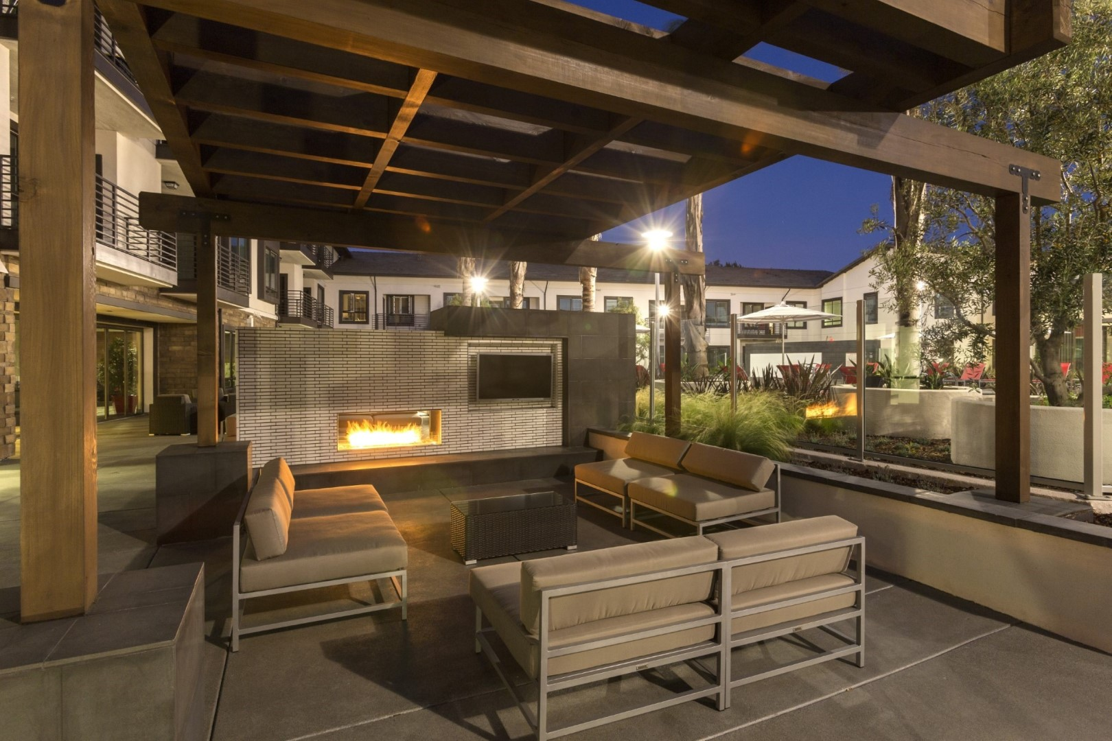 Fire pit at Anton Apartments, Lakewood, Sunnyvale