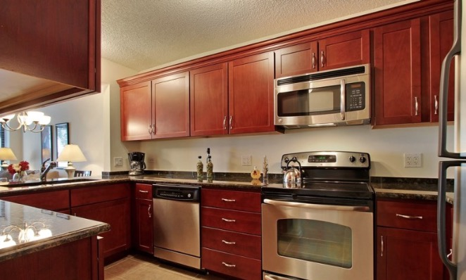 Kitchen at Iroquois Club Apartment