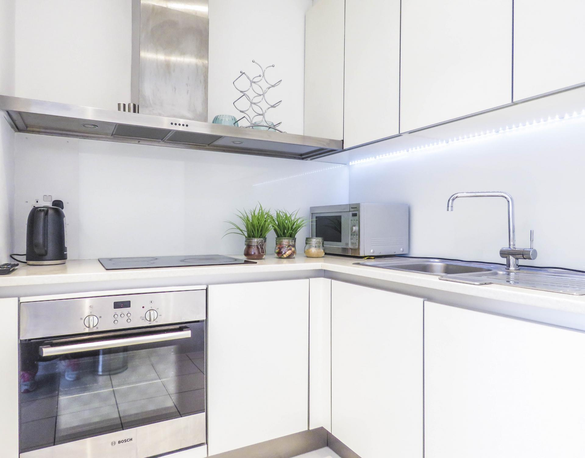 Kitchen at The Cube Serviced Apartments