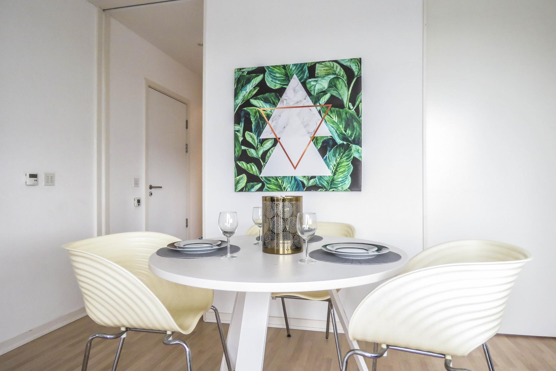 Dining area at The Cube Serviced Apartments
