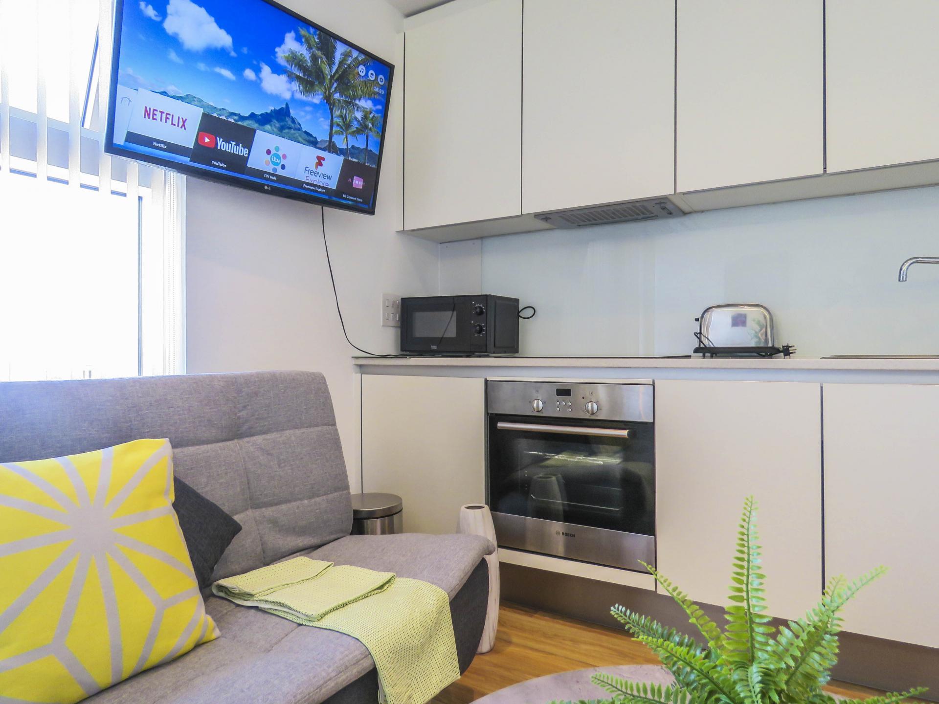 Sofa at The Cube Serviced Apartments