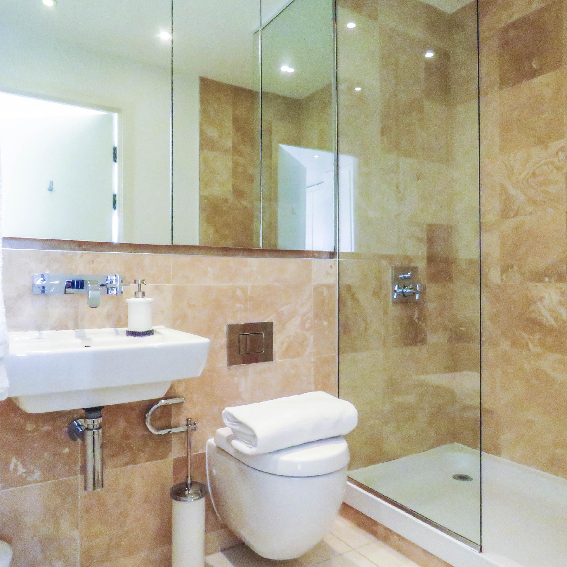 Shower at The Cube Serviced Apartments