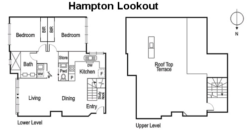 Floor plan of Hampton Lookout Apartment
