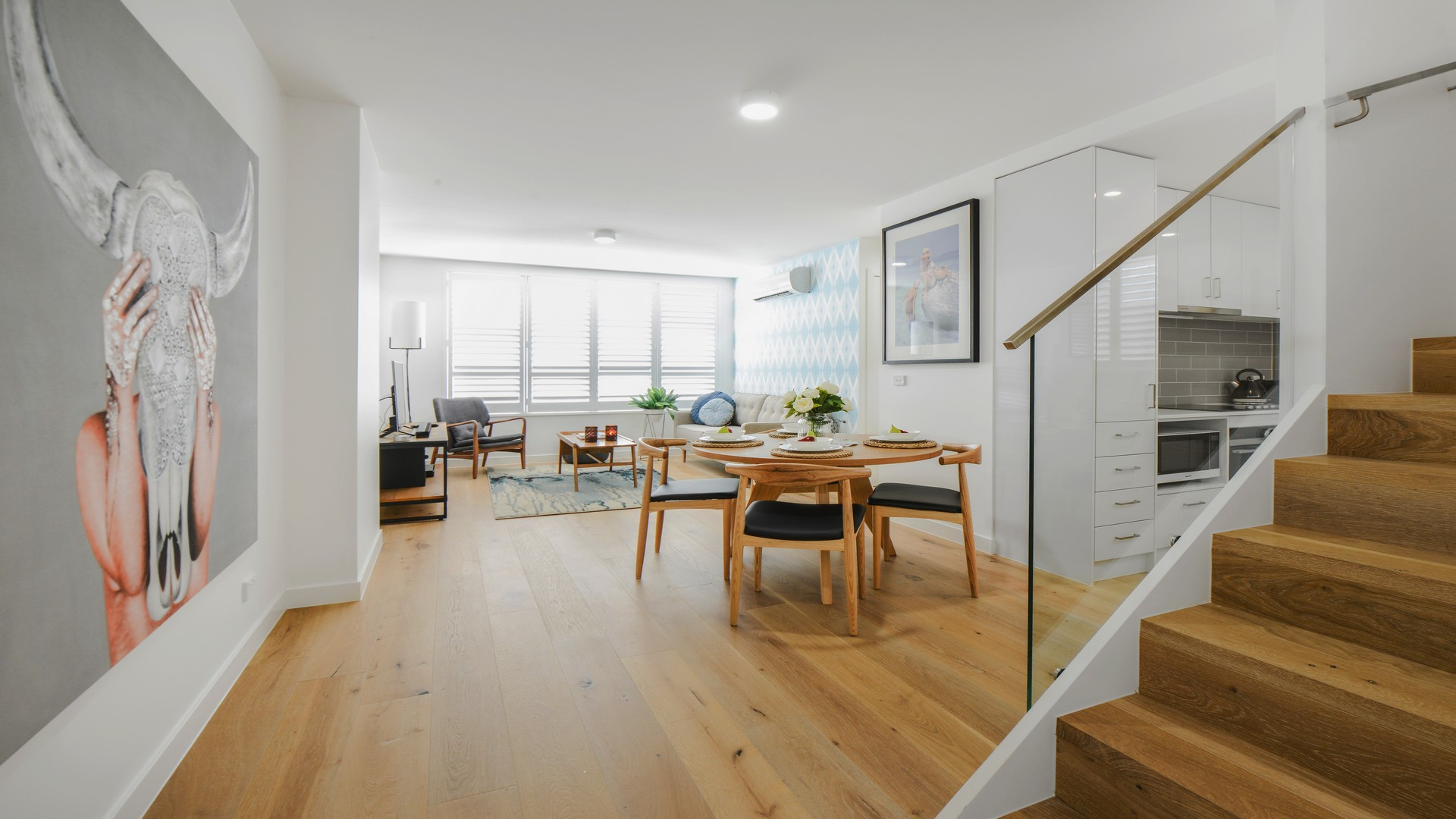Open-plan space at Hampton Lookout Apartment