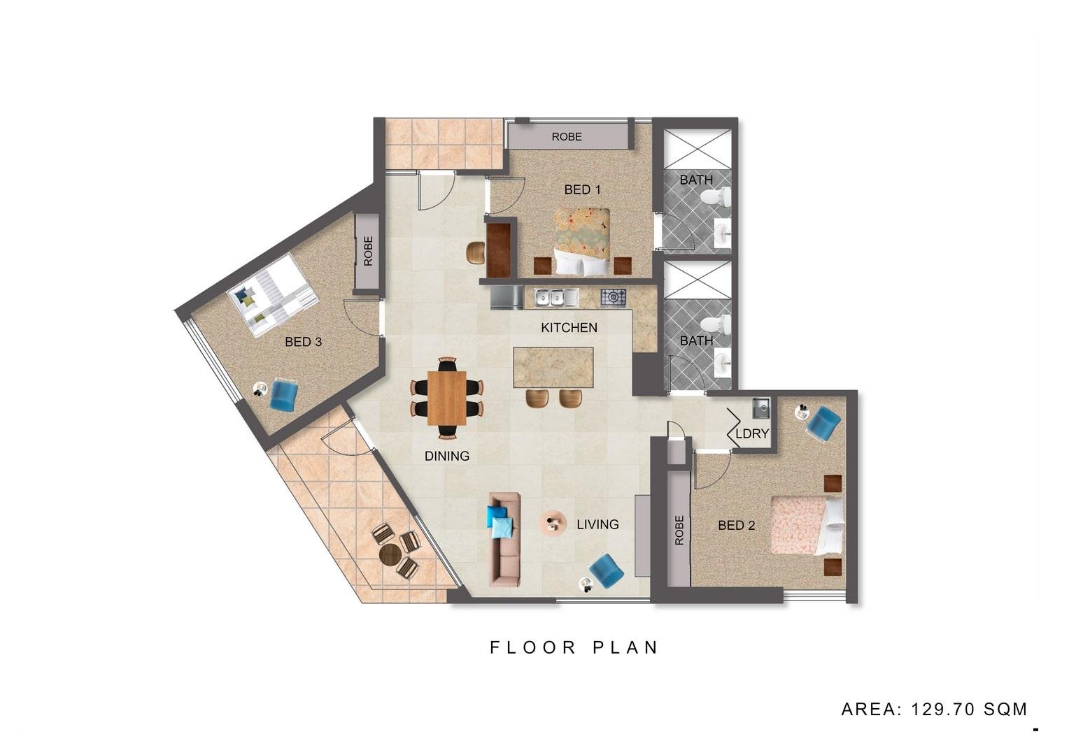 Floor plan at Highviews Apartment