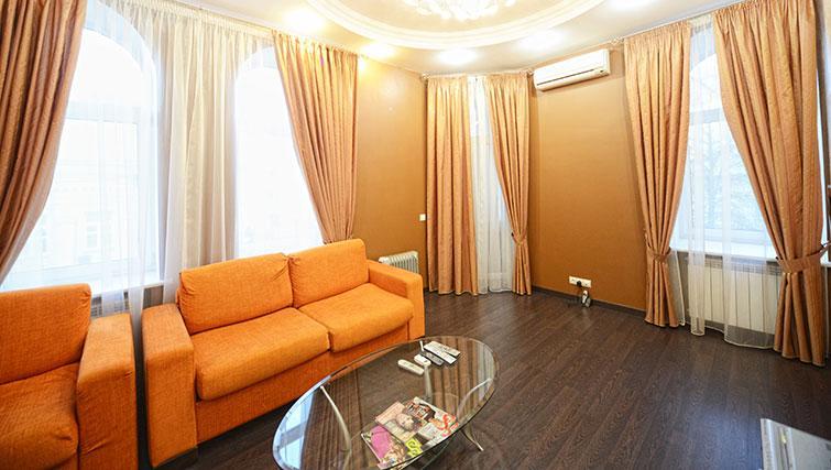 Living area at Mala Zhitomirskaya Apartment