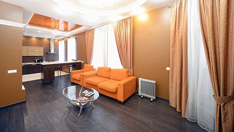 Sofa at Mala Zhitomirskaya Apartment