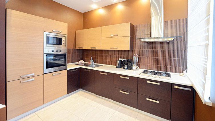 Kitchen in Mala Zhitomirskaya Apartment