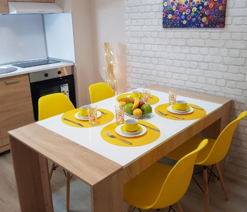 Dining table at Pop Manol Apartments