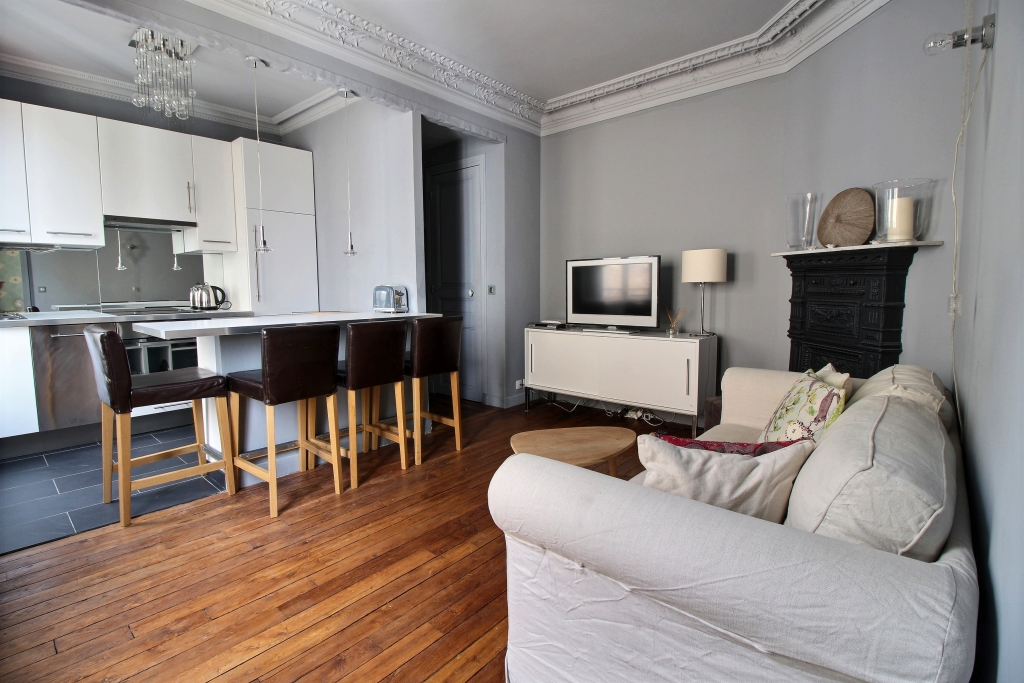 Kitchen at Cozy Gramme Apartment, 15th Arr, Paris
