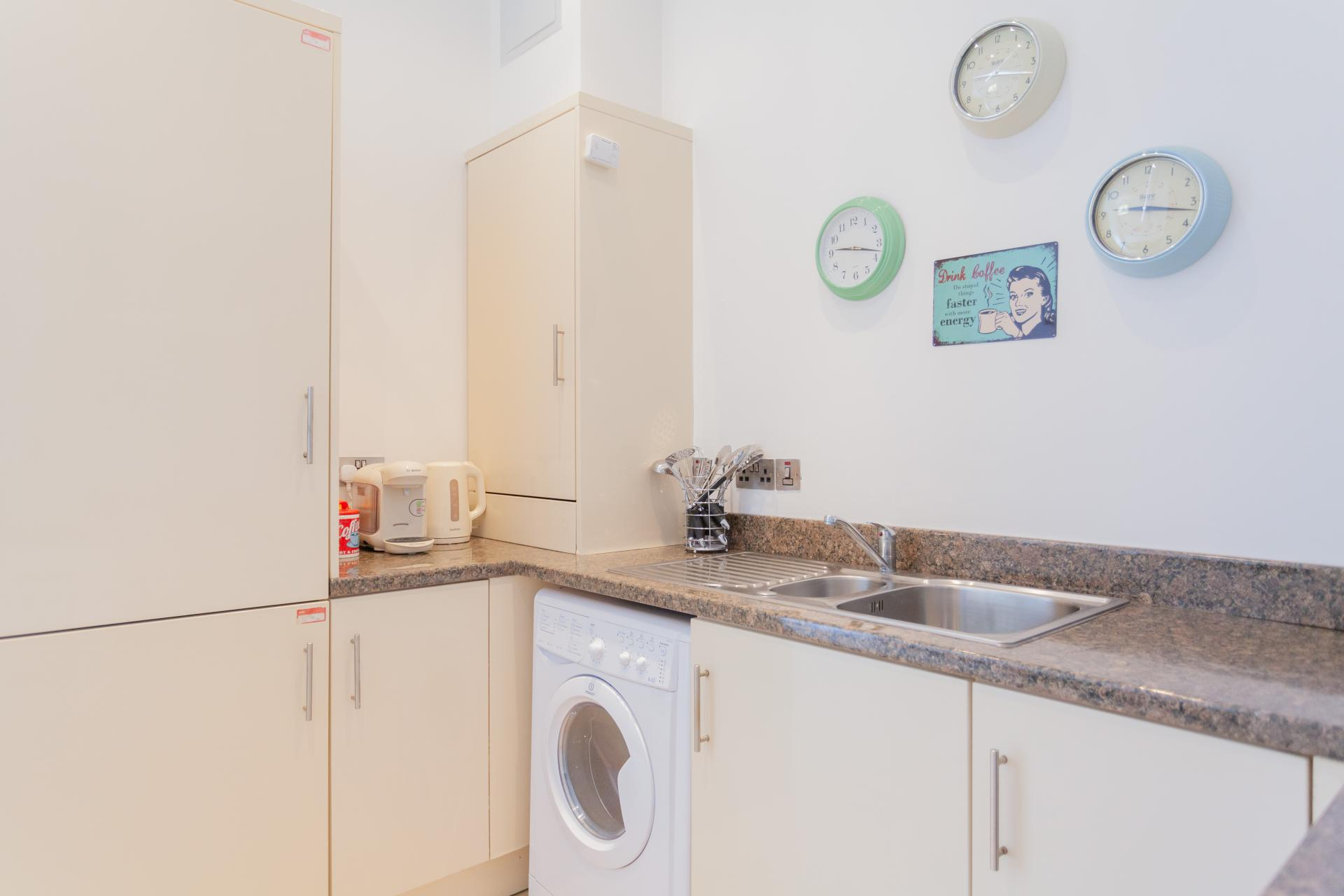 Kitchen facilities at Haven Serviced Apartments