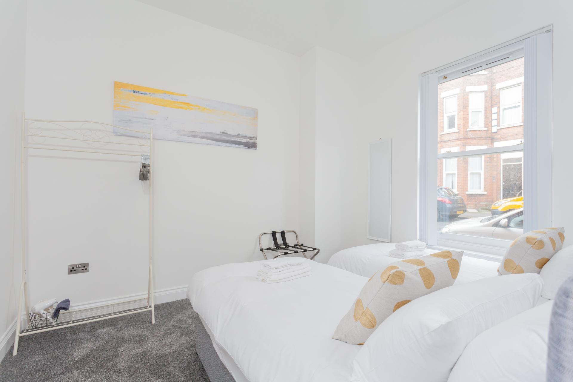Bright bedroom at Haven Serviced Apartments