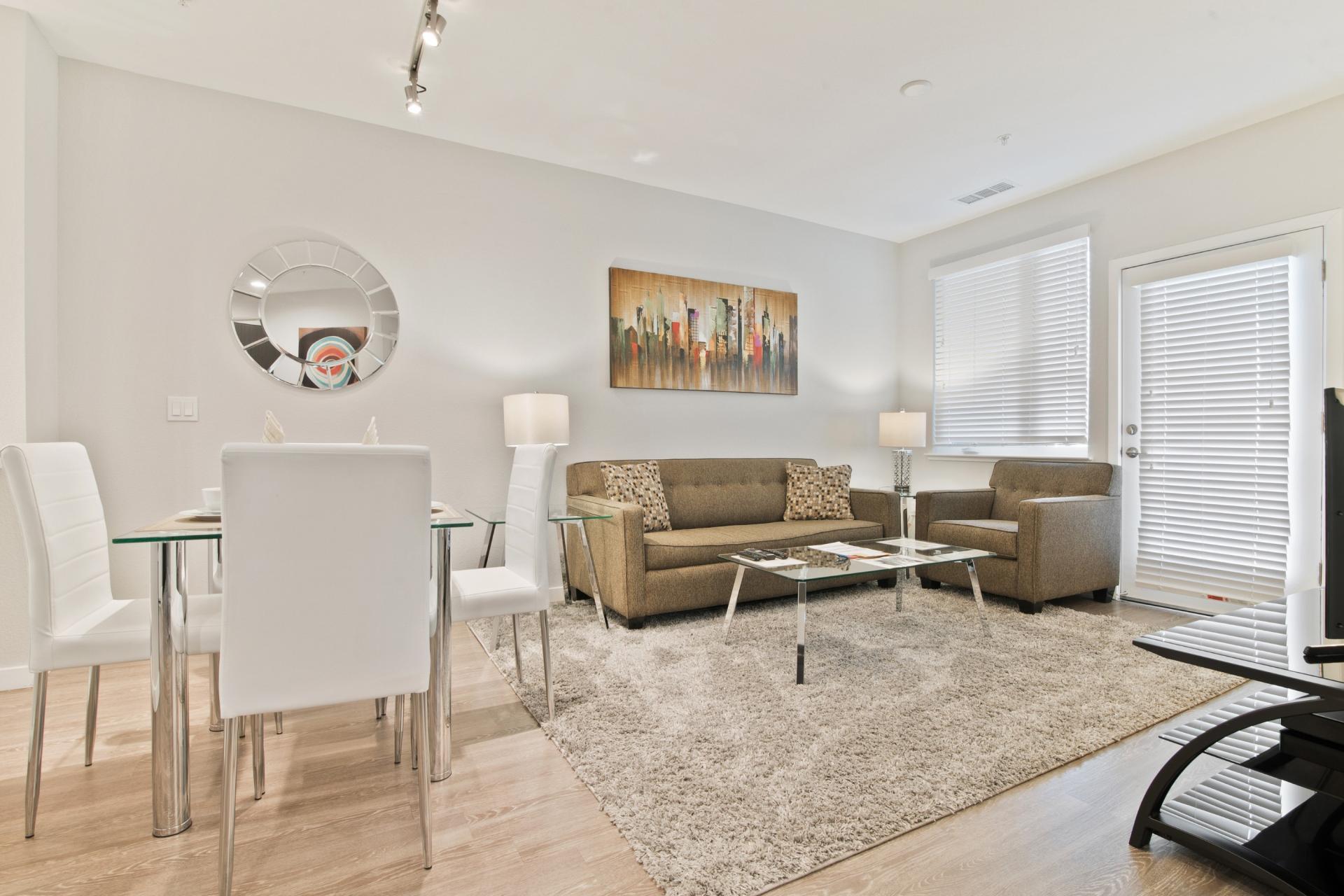 Living room at Anton Menlo Apartments, Friendly Acres, Menlo Park