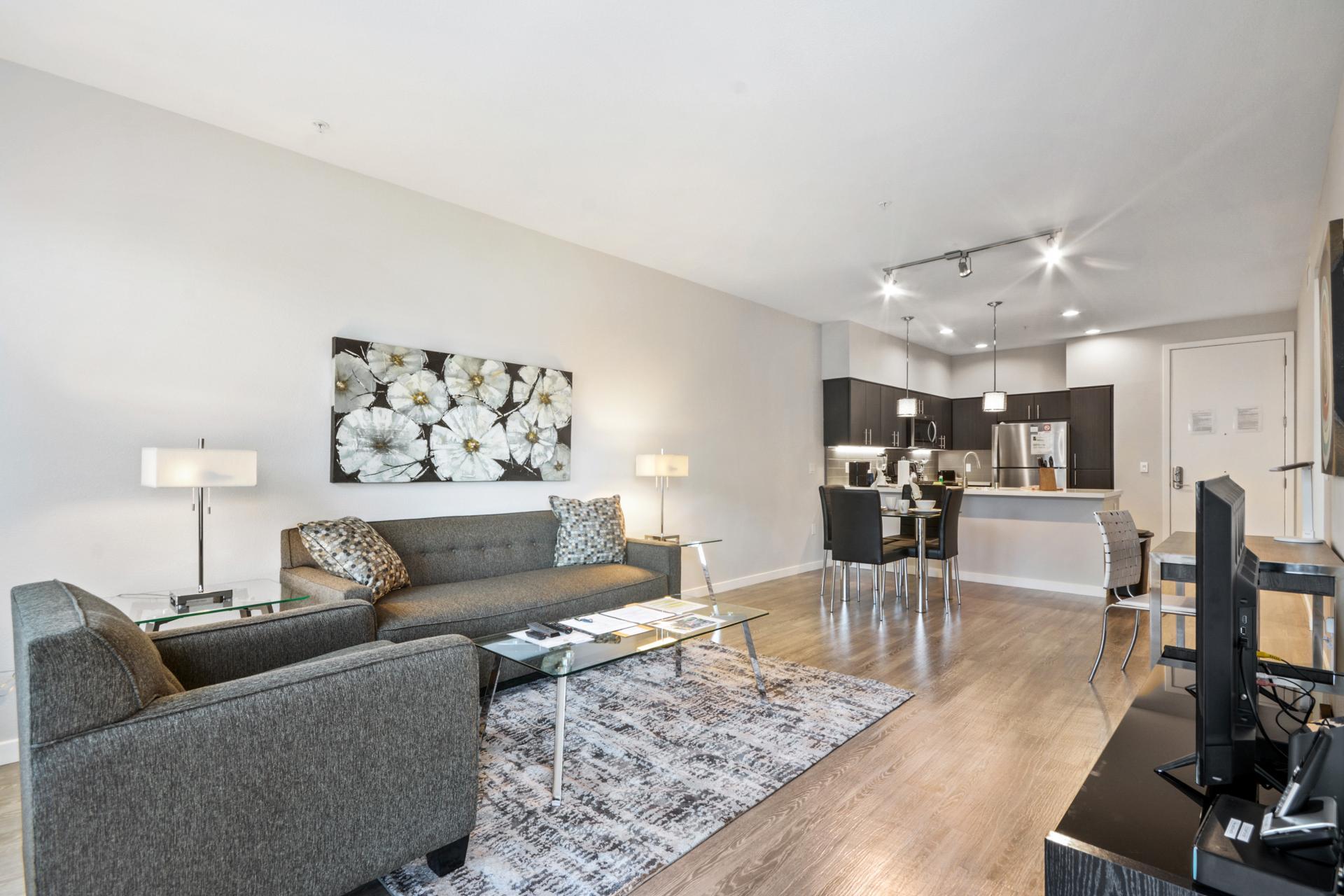 Sofa at Anton Menlo Apartments, Friendly Acres, Menlo Park
