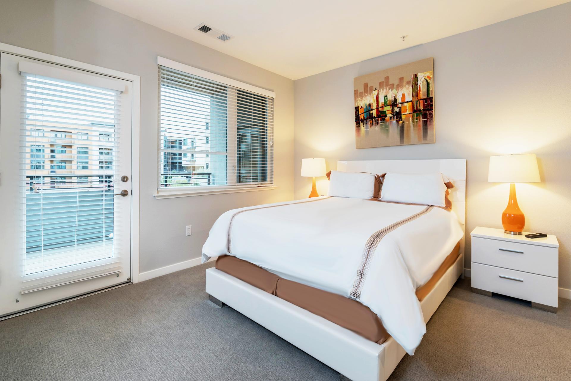 Bed at Anton Menlo Apartments, Friendly Acres, Menlo Park