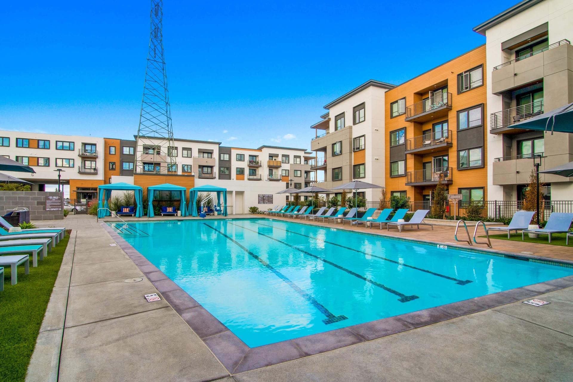 Swim at Anton Menlo Apartments, Friendly Acres, Menlo Park