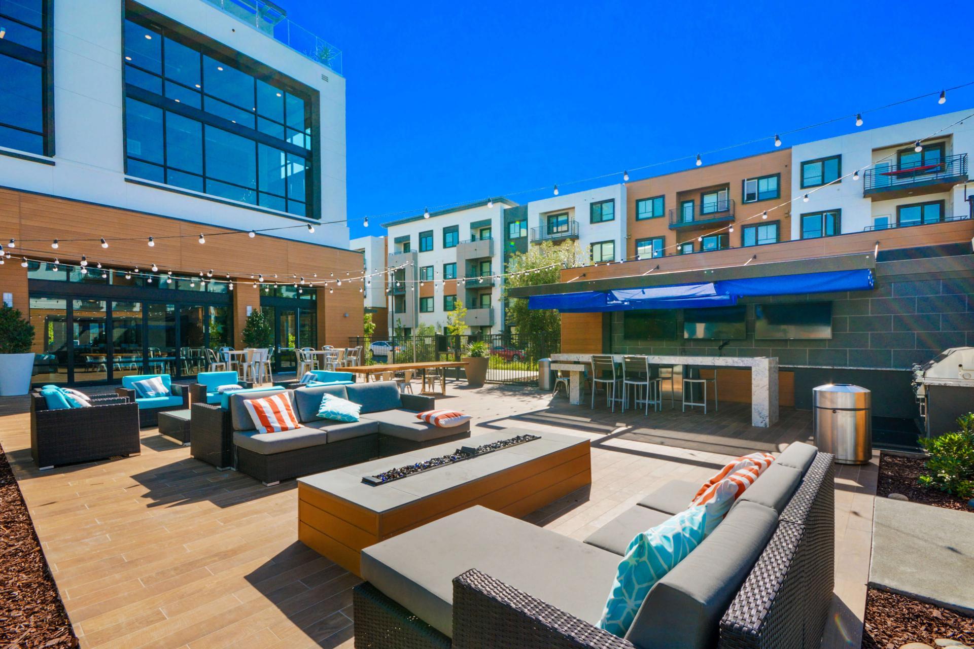 Seating at Anton Menlo Apartments, Friendly Acres, Menlo Park