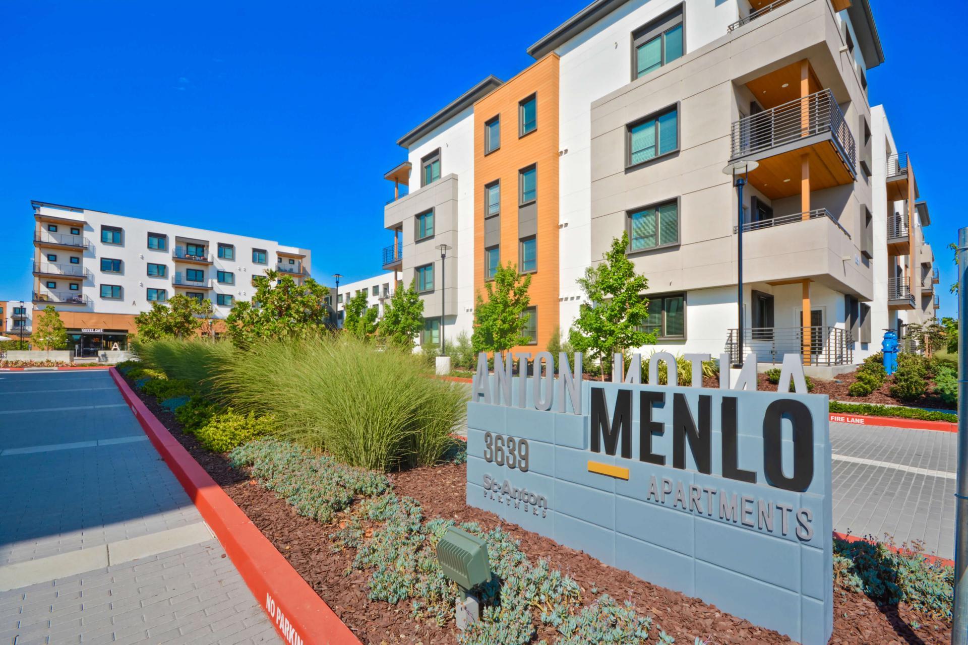 Entrance at Anton Menlo Apartments, Friendly Acres, Menlo Park