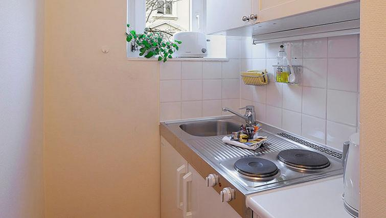 Kitchen at Oberhouse Apartments