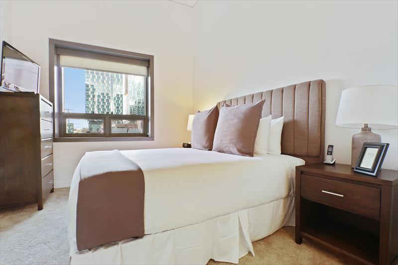 Bedroom at Apex Serviced Apartment