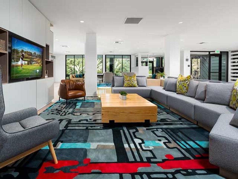Living area at Ava Toluca Hills Apartments, Toluca Lake, Los Angeles