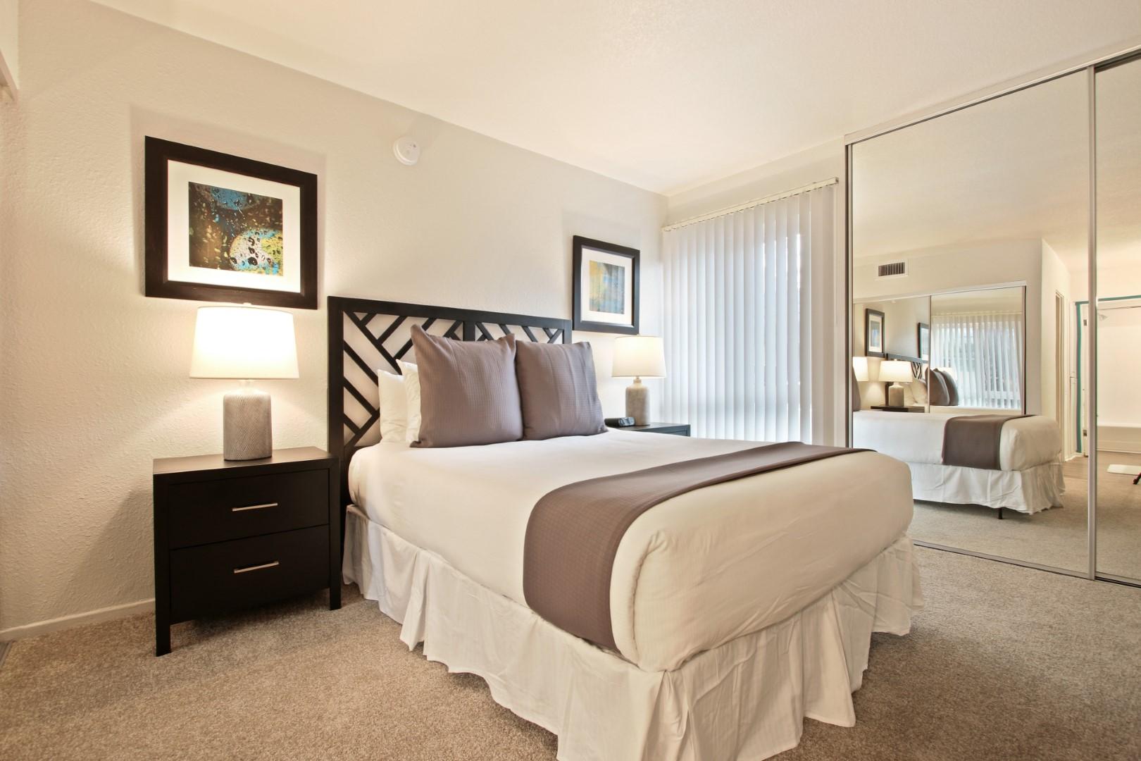 Bedroom at Ava Toluca Hills Apartments, Toluca Lake, Los Angeles