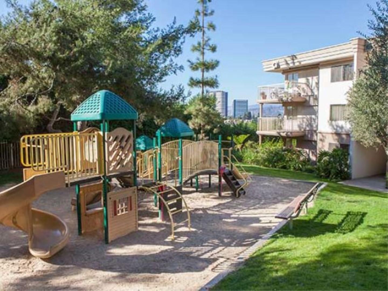 Playground at Ava Toluca Hills Apartments, Toluca Lake, Los Angeles