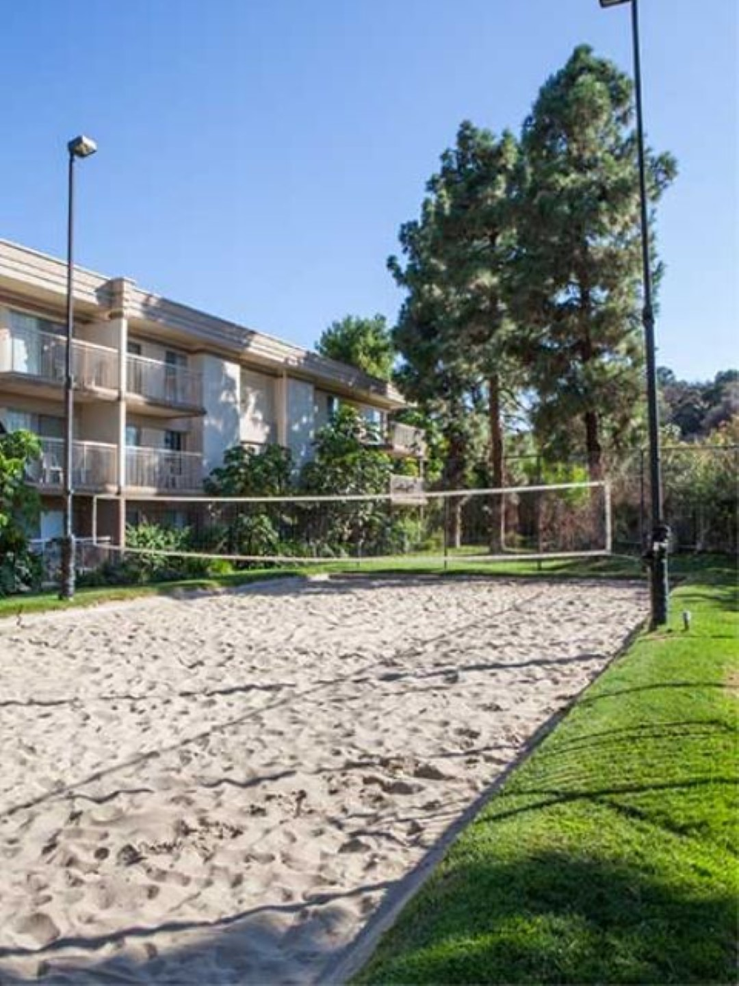 Beach volleyball at Ava Toluca Hills Apartments, Toluca Lake, Los Angeles