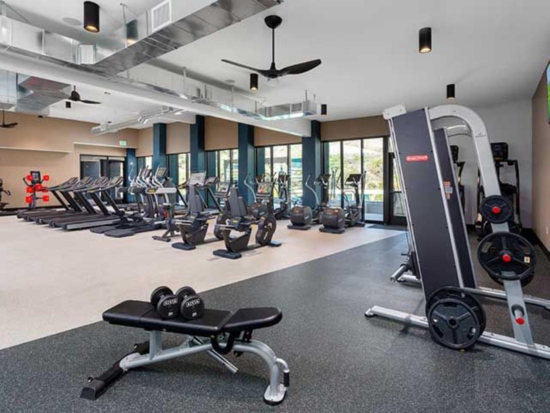 Gym at Ava Toluca Hills Apartments, Toluca Lake, Los Angeles