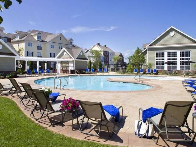 Pool at Avalon Residences at the Hingham Shipyard